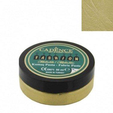 Pasta Textil FASHION METALLIC - Oro CADENCE 50 ml.
