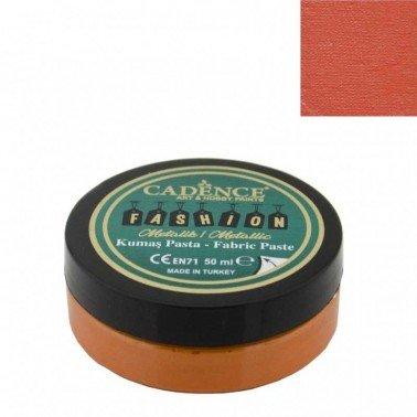 Pasta Textil FASHION METALLIC - Naranja CADENCE 50 ml.
