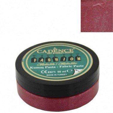 Pasta Textil FASHION METALLIC - Rojo CADENCE 50 ml.