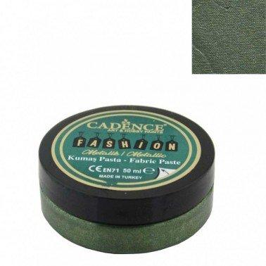 Pasta Textil FASHION METALLIC - Verde CADENCE 50 ml.