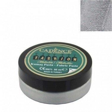 Pasta Textil FASHION METALLIC - Plata CADENCE 50 ml.