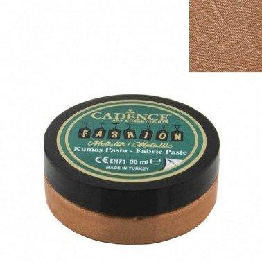 Pasta Textil FASHION METALLIC - Cobre CADENCE 50 ml.