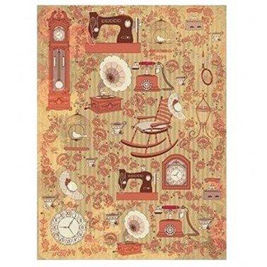 Papel de arroz decorado COSAS DE CASA CADENCE, 30 x 41 cm.