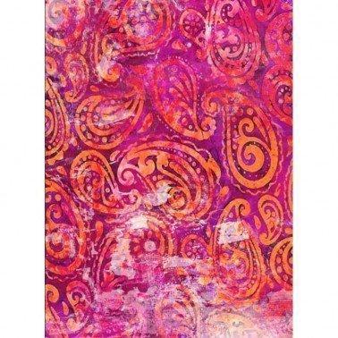 Papel de arroz decorado PASLEY ROSA CADENCE, 30 x 41 cm.