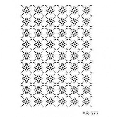Stencil plantilla FONDO FLORES CADENCE 21 x 30 cm.