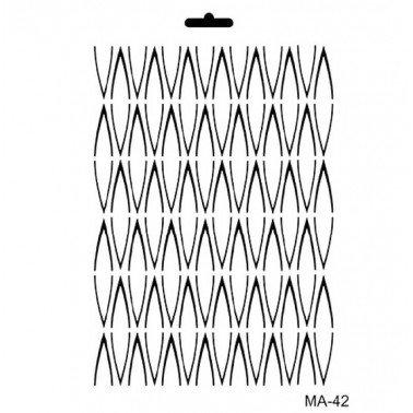 Stencil mix media FONDO LINEAL CADENCE 21 x 30 cm.
