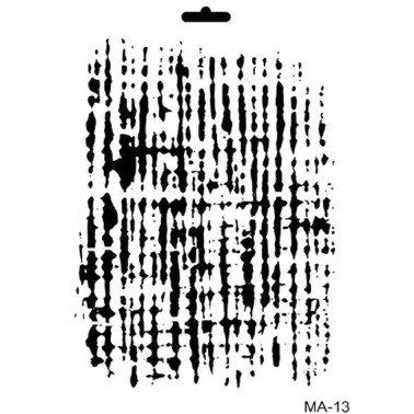 Stencil mix media FONDO ARPILLERA CADENCE 21 x 30 cm.