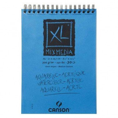 Bloc XL Mixmedia 21 x 29,9 cm, 30 hojas 300 gr CANSON.