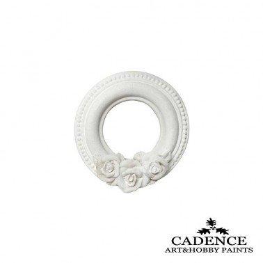 Marquito Circulo Rosas de Resina CADENCE diametro 8.5 cm.