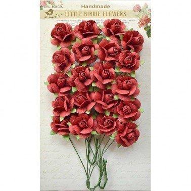 Flores de papel Boutique elements - CATALINA RIVIERA RED.