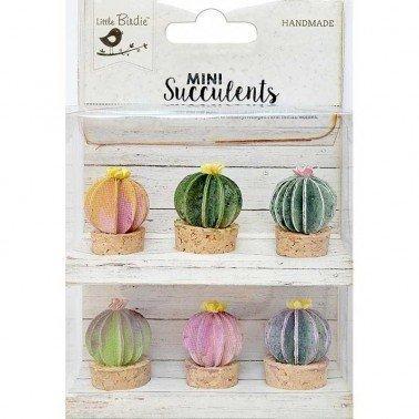 Flores de papel Mini Suculents - BARREL CACTUS.