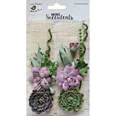 Flores de papel Mini Suculents - SUCULENTA BURLAP PATCH.