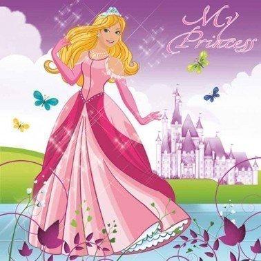 Servilletas para decoupage Beautiful Princess 33 X 33 cm.