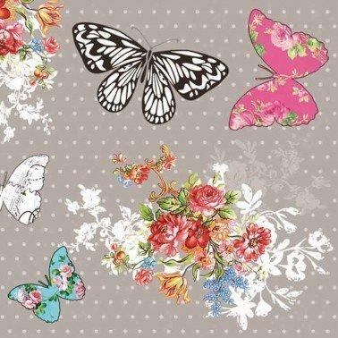 Servilletas para decoupage Vintage Butterflies 33 X 33 cm.