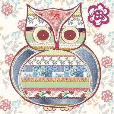 Servilletas para decoupage Patterned Owl 33 X 33 cm.