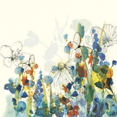 Servilletas para decoupage Watercolour Painted Meadow 33 X 33 cm.