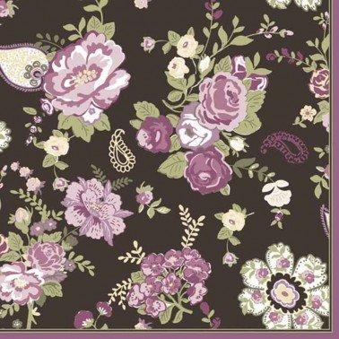 Servilletas para decoupage Wallpaper with Roses Claret 33 X 33 cm.