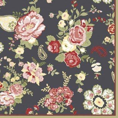 Servilletas para decoupage Wallpaper with Roses Graphite 33 X 33 cm.