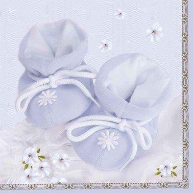 Servilletas para decoupage Little Blue Shoes 33 X 33 cm.