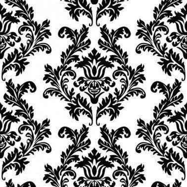 Servilletas para decoupage White & Black Wallpaper 33 X 33 cm.