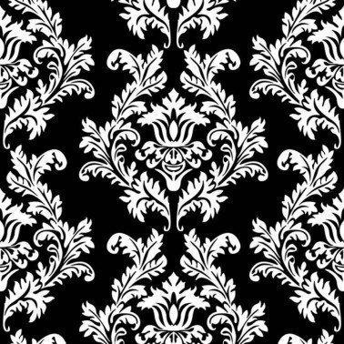 Servilletas para decoupage Black & White Wallpaper 33 X 33 cm.