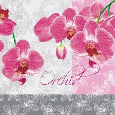 Servilletas para decoupage Romantic Orchid 33 X 33 cm.
