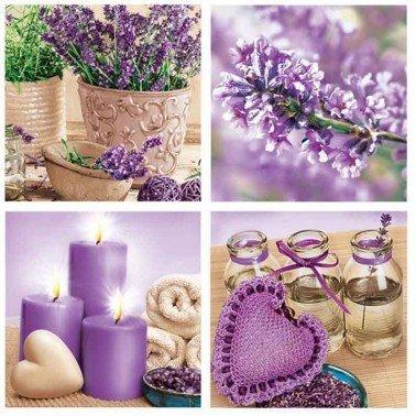 Servilletas para decoupage Lavender Spa 33 X 33 cm.