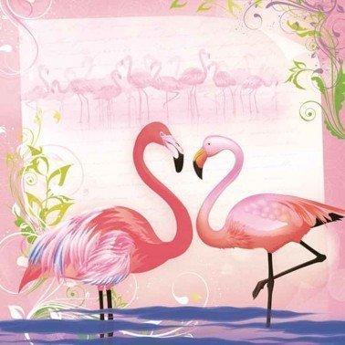 Servilletas para decoupage Pair of Flamingos 33 X 33 cm.