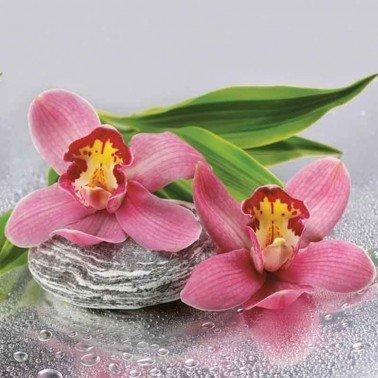 Servilletas para decoupage Orchids on Stone 33 X 33 cm.