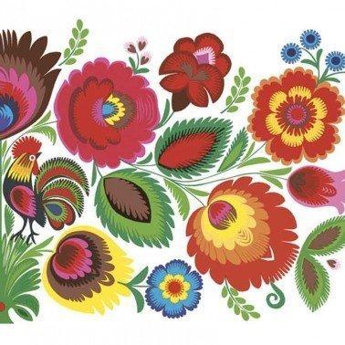 Servilletas para decoupage Floral Folk Pattern 33 X 33 cm.