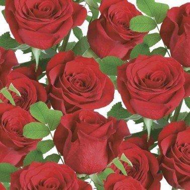 Servilletas para decoupage Classic Red Roses 33 X 33 cm.