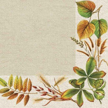 Servilletas para decoupage Autumn Leaves Frame 33 X 33 cm.