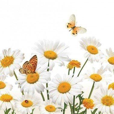Servilletas para decoupage Daisies & Butterflies 33 X 33 cm.