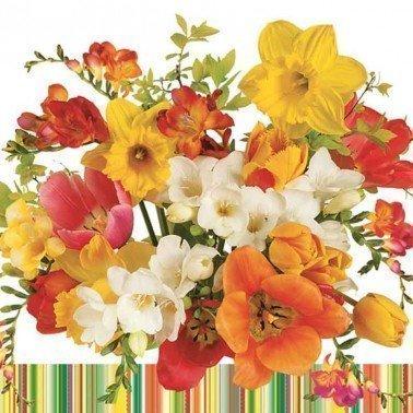 Servilletas para decoupage Sunny Bouquet 33 X 33 cm.