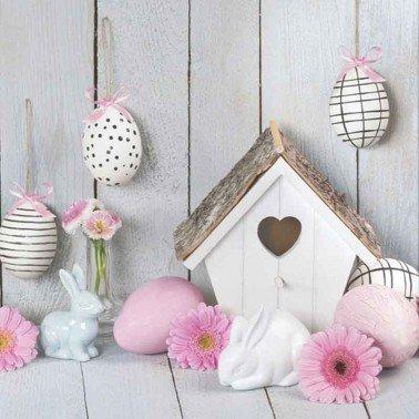 Servilletas para decoupage Easter Motives & Bird House 33 X 33 cm.