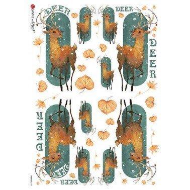Papel de arroz para decoupage A4 Paper Designs Animales 0101.