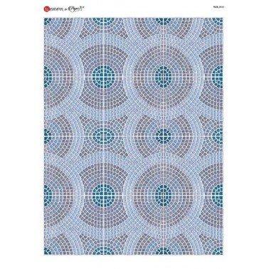 Papel de arroz para decoupage A4 Paper Designs TILE 0033.