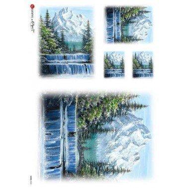 Papel de arroz para decoupage A4 Paper Designs Paisajes 0024.
