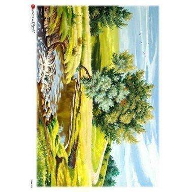 Papel de arroz para decoupage A4 Paper Designs Paisajes 0036.