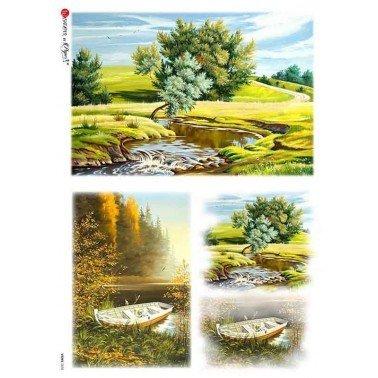 Papel de arroz para decoupage A4 Paper Designs Paisajes 0038.