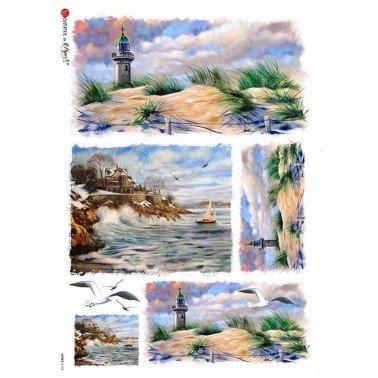 Papel de arroz para decoupage A4 Paper Designs Paisajes 0108.