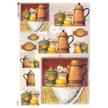Papel de arroz para decoupage A4 Paper Designs Alimentos 0085.