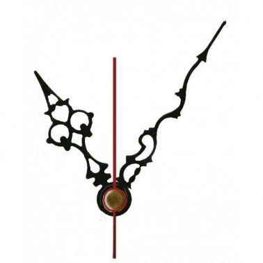 Agujas metálicas para relojes negra 120-87 mm