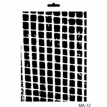 Stencil mix media CUADROS IRREGULAR 21 x 30 cm.