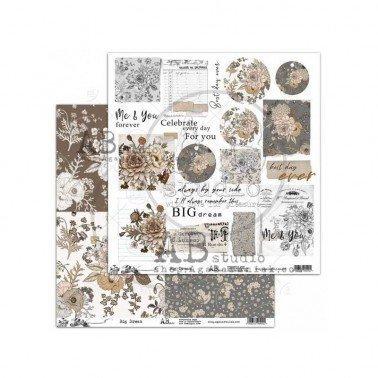 Papel de scrap Big Dream AB STUDIO 30x30 cm.