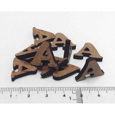 Mini letra A, 1.5 cm DM