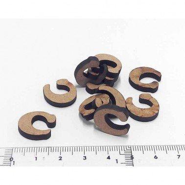 Mini letra C, 1.5 cm DM