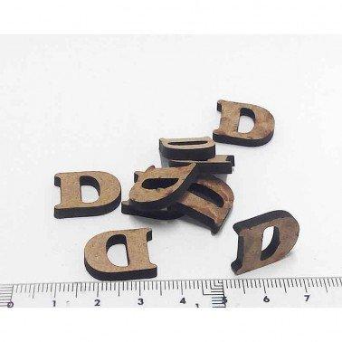Mini letra D, 1.5 cm DM