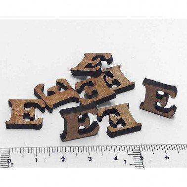 Mini letra E, 1.5 cm DM