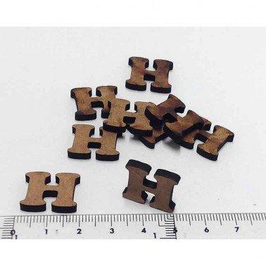 Mini letra H, 1.5 cm DM